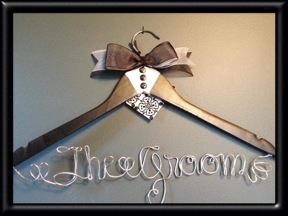 On Line Hair Designs Wire Wedding Hangers